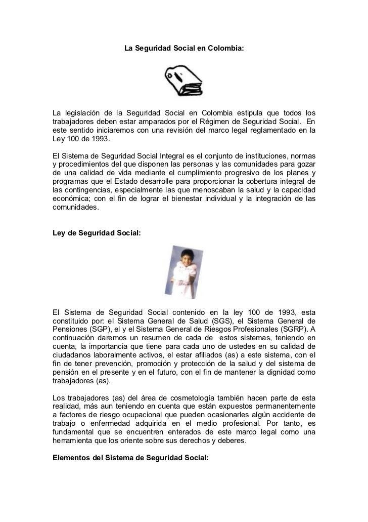 La seguridad social en colombia
