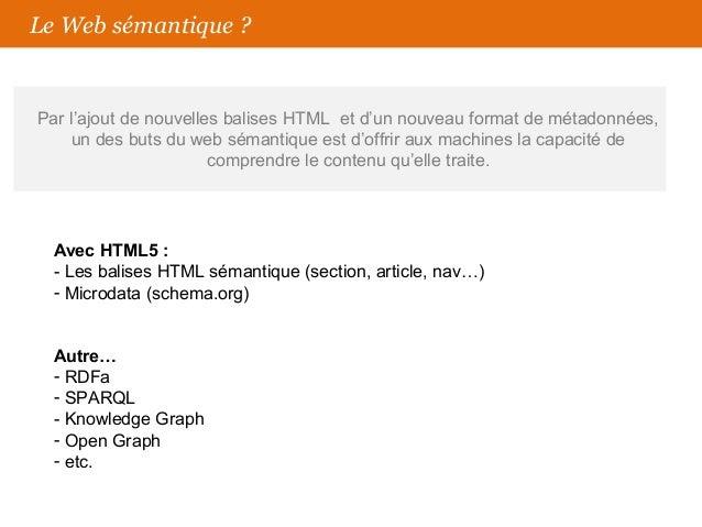 La sémantique html5 et Wordpress Slide 3