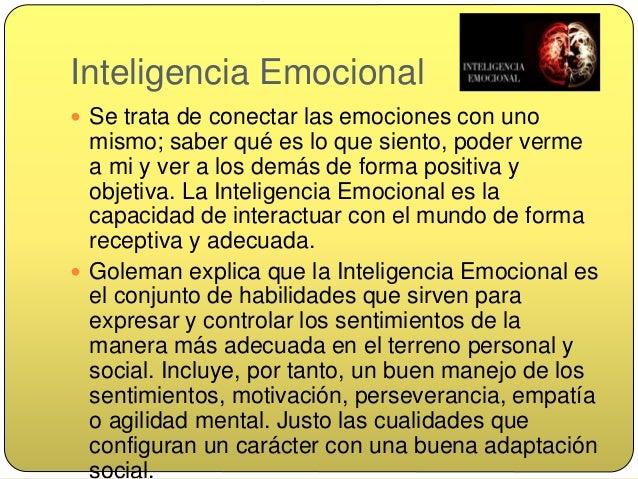 La inteligencia emocional se resume en: