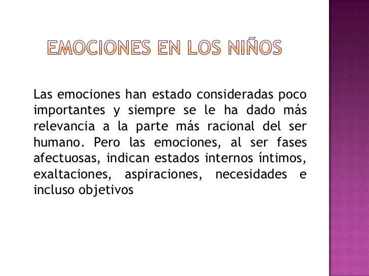 Las emociones en los niños Slide 2