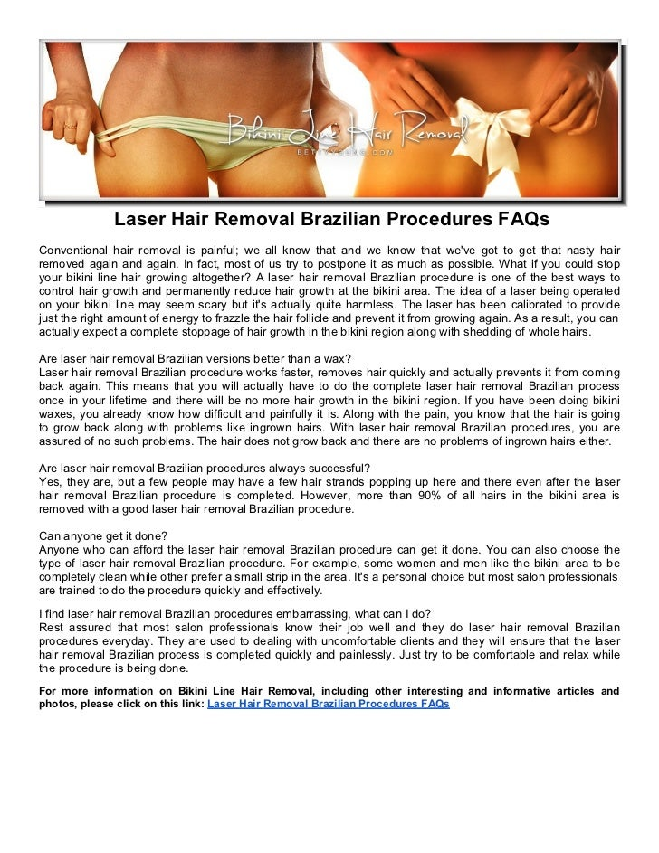 Laser Hair Removal Brazilian Procedures FAQs