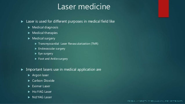Laser Used In Cardiology Maryam Liaqat