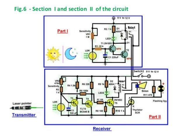 Home security alarm system fig6 section i and section ii of the circuit ccuart Images