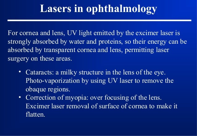 Absorption of the eye