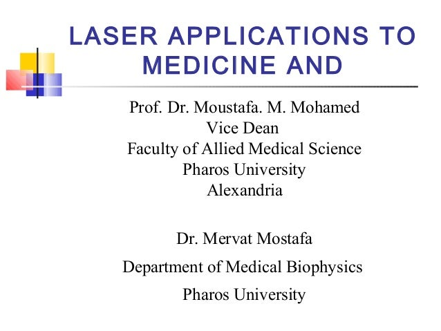 List of laser applications