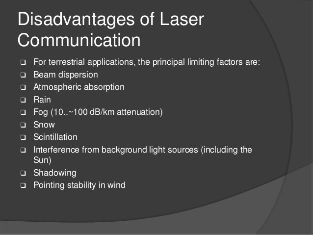 Laser Communication Ppt Svist