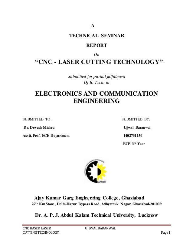 Laser cutter report