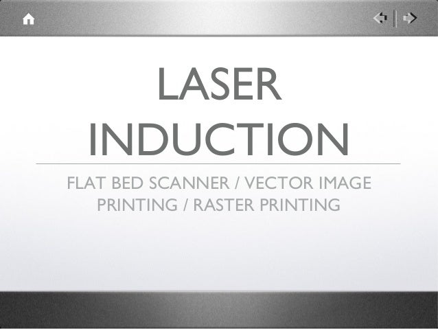 LASER  INDUCTIONFLAT BED SCANNER / VECTOR IMAGE   PRINTING / RASTER PRINTING