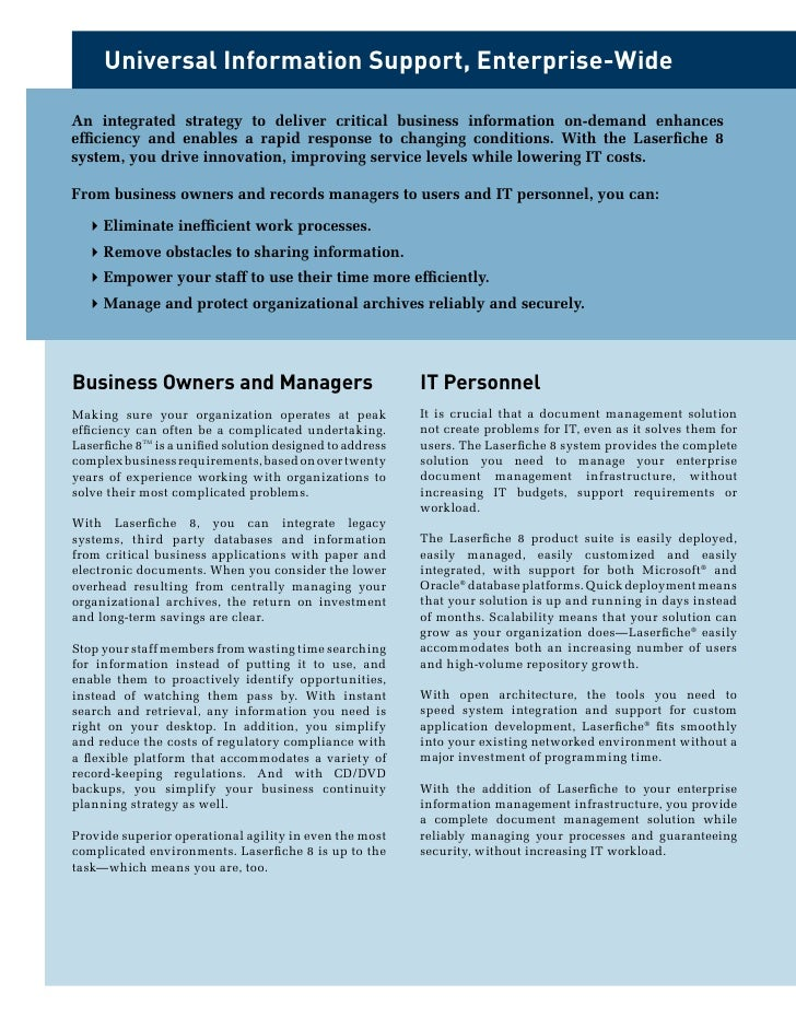 Laserfiche document management solutions Slide 3