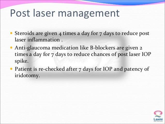 Argon versus Nd:YAG Laser   .  Argon laser Nd:YAG laser  Uptake of energy Require pigmented  cells  Doesn't require  Iris...