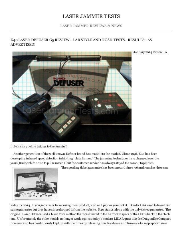 K40 Laser Defuser Laser Jammer Test