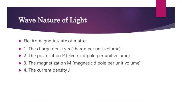 Equation For Wave Nature Of Light