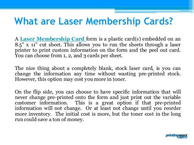 Laser Membership Cards by Printingworx – Blank Membership Cards