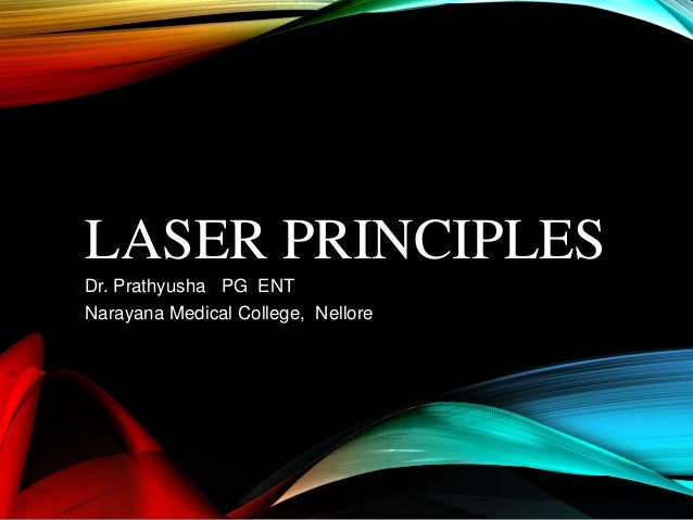 Lasers In Medicine Basic Principles And Application