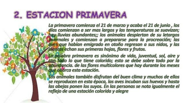 Las estaciones del año (1)
