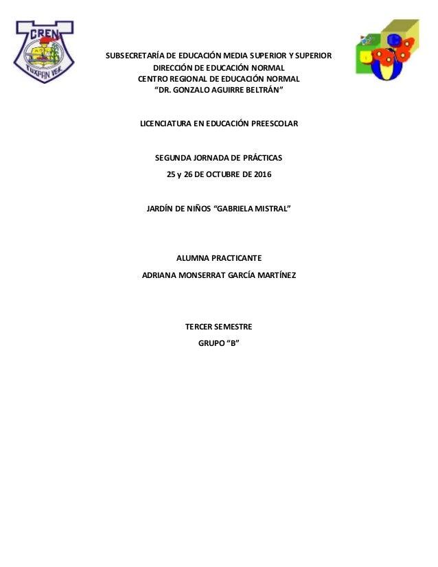 """SUBSECRETARÍA DE EDUCACIÓN MEDIA SUPERIOR Y SUPERIOR DIRECCIÓN DE EDUCACIÓN NORMAL CENTRO REGIONAL DE EDUCACIÓN NORMAL """"DR..."""
