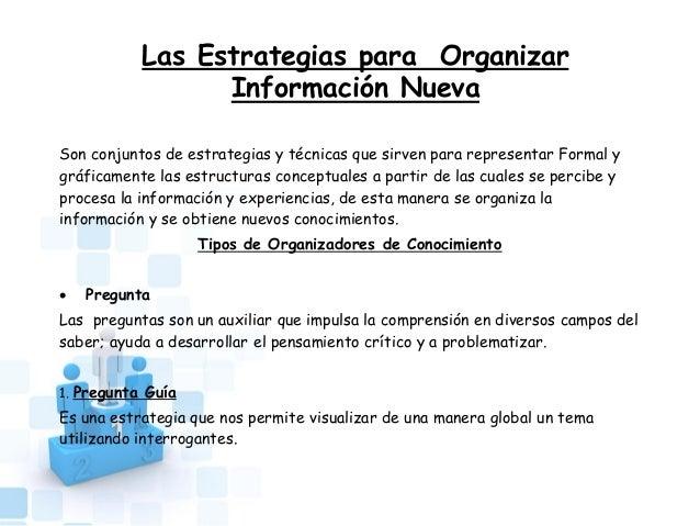 Estrategias Para Organizar Información Nueva Power Point