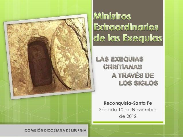 Reconquista-Santa Fe                                 Sábado 10 de Noviembre                                        de 2012...