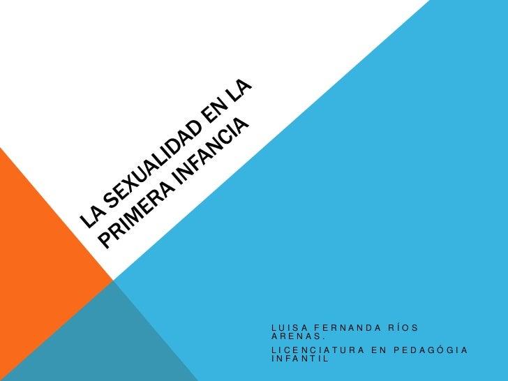 LUISA FERNANDA RÍOSARENAS.LICENCIATURA EN PEDAGÓGIAINFANTIL