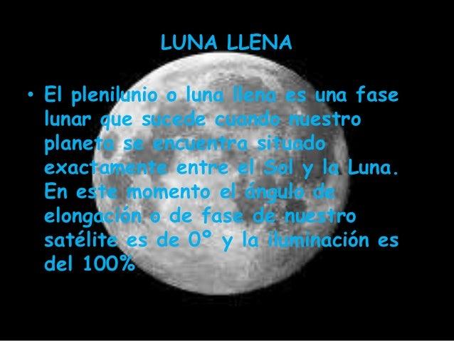 Las fases de la luna for Cuando es luna llena