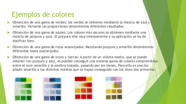 Gama de colores ocres colores obtener una gama uc gama for Gama de colores para interiores