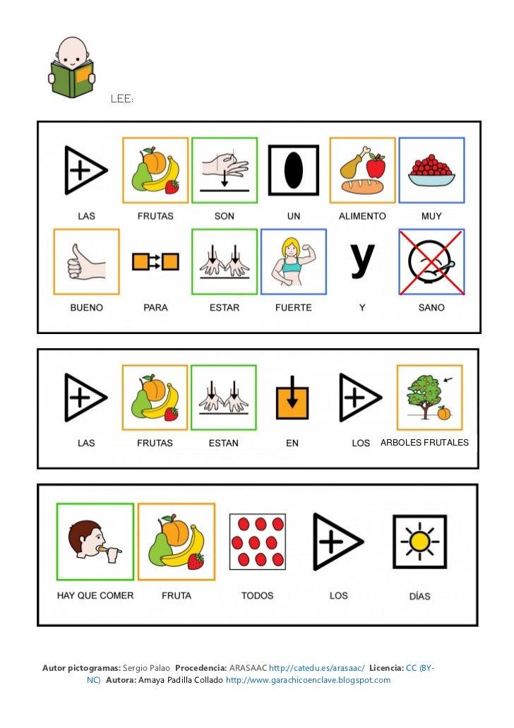 LEE:                                                                                  ARBOLES FRUTALESAutor pictogramas: S...