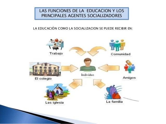 Las Funciones De La Educ Y Los Agents Socializadores