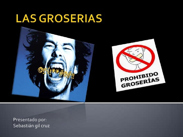 LAS GROSERIAS<br />Presentado por: <br />Sebastián gil cruz<br />