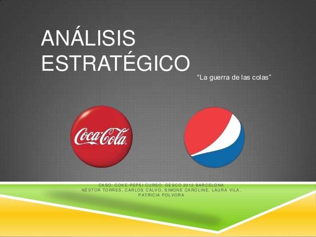 """ANÁLISISESTRATÉGICO                                                              """"La guerra de las colas""""            CASO:..."""