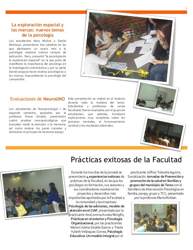 2 La exploración espacial y las marcas: nuevos temas      de la psicologíaLos estudiantes Nory Muñoz y DanielMontoya, pres...