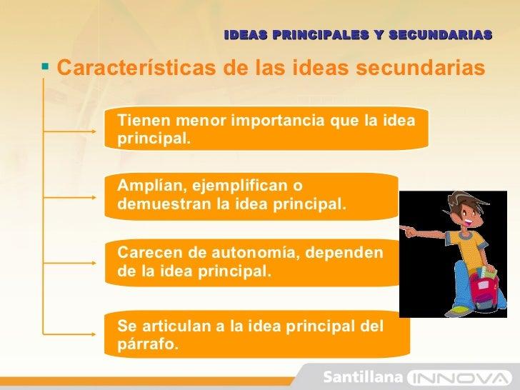 ideas principales y secundarias de un texto ejercicios resueltos pdf