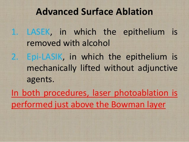 Lasik Versus Surface Ablation