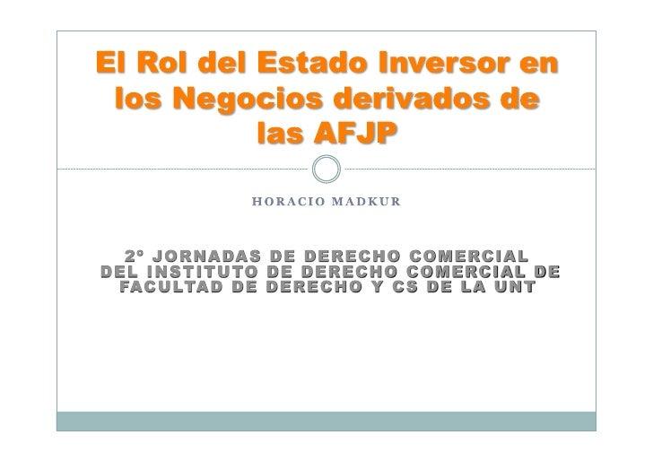 Implicancias Macro  Implicancias Micro  Antecedentes AFJP  SIPA  Situacion de las Empresas con participación accionaria  M...