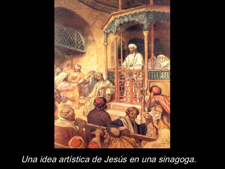 Una idea artística de Jesús en una sinagoga.