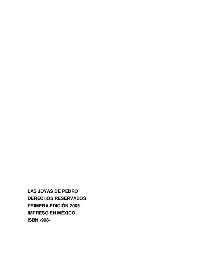 Las joyas de Pedro - Tomo IV Slide 3
