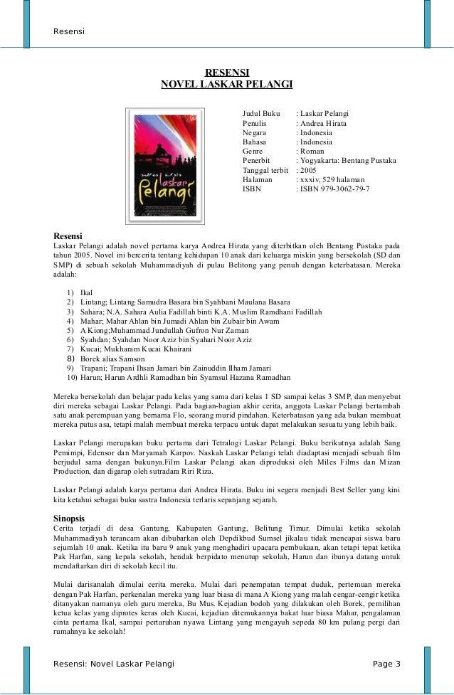 Pdf pelangi tetralogi novel laskar
