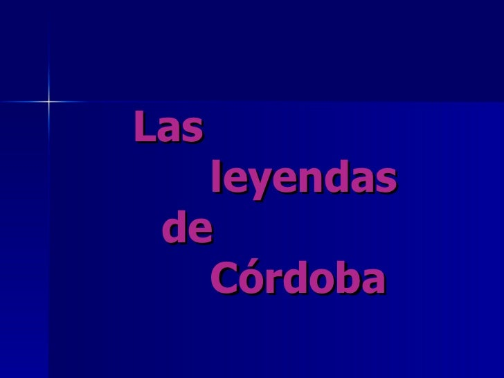 Las    leyendas    de    Córdoba