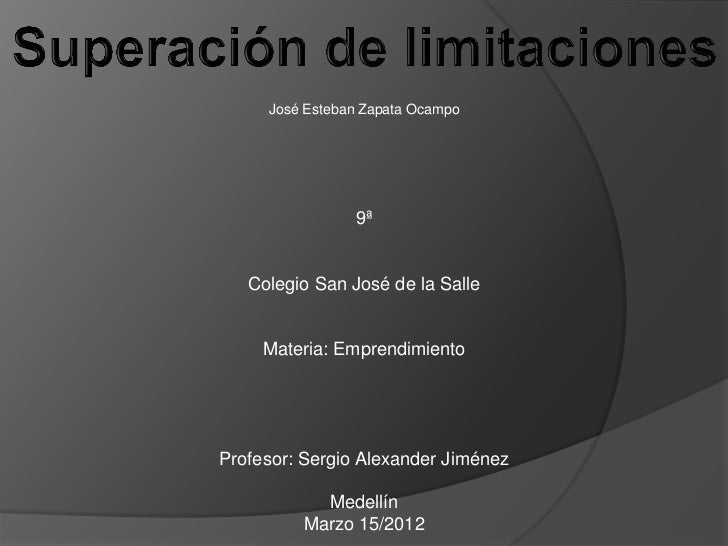 José Esteban Zapata Ocampo                9ª   Colegio San José de la Salle     Materia: EmprendimientoProfesor: Sergio Al...