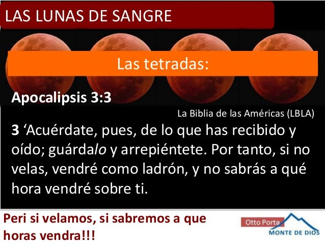 Resultado de imagen para LUNA COMO SANGRE BIBLIA