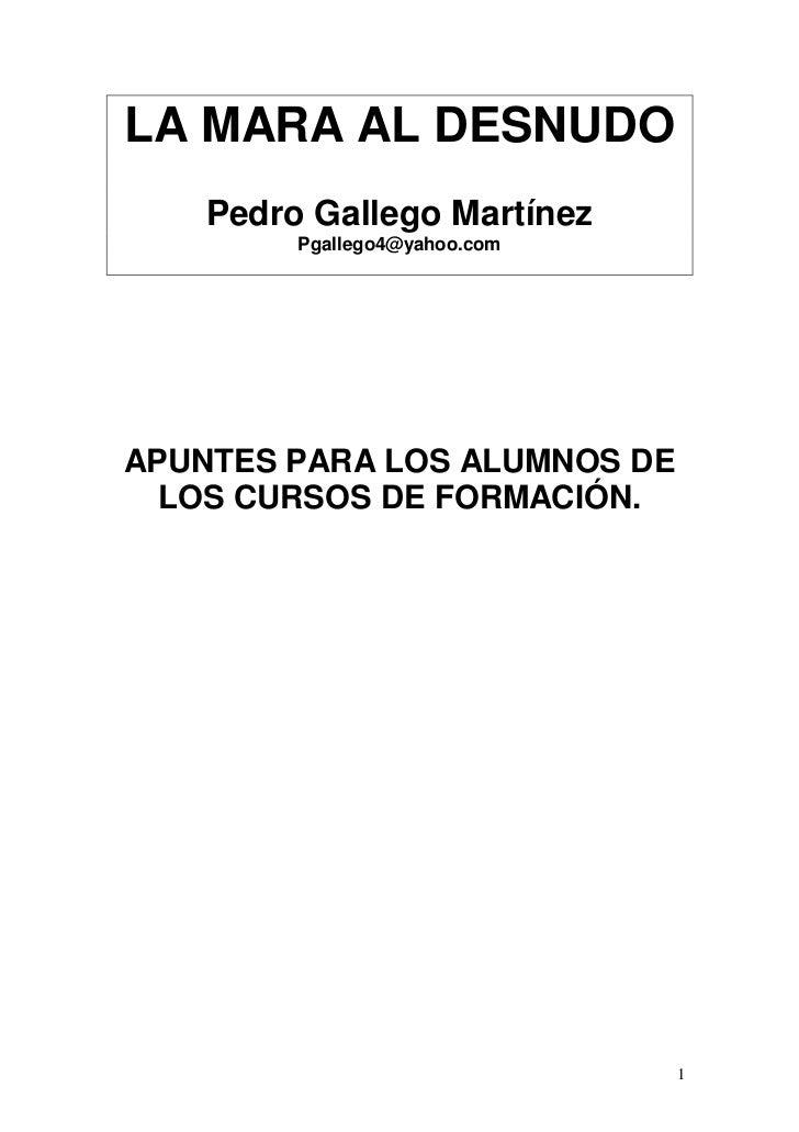 LA MARA AL DESNUDO     Pedro Gallego Martínez          Pgallego4@yahoo.com     APUNTES PARA LOS ALUMNOS DE   LOS CURSOS DE...