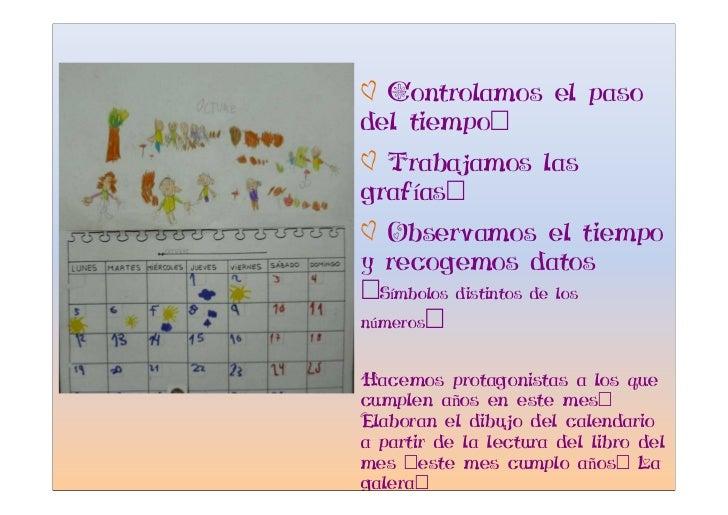 Ø Controlamos el paso del tiempo: Ø Trabajamos las grafías: Ø Observamos el tiempo y recogemos datos :Símbolos distintos d...