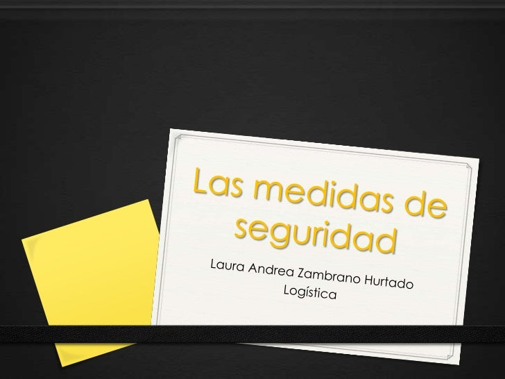 Las medidas de seguridad<br />Laura Andrea Zambrano Hurtado<br />Logística<br />
