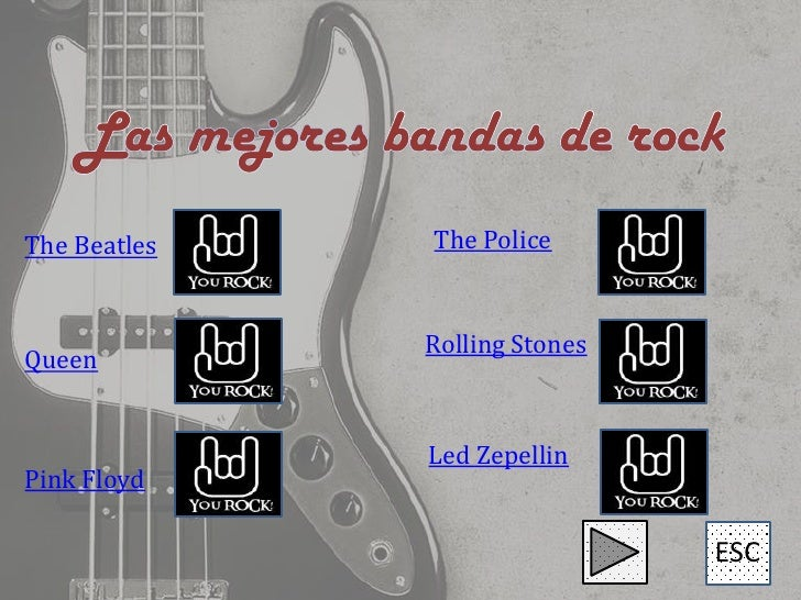 The Beatles   The Police              Rolling StonesQueen              Led ZepellinPink Floyd                             ...