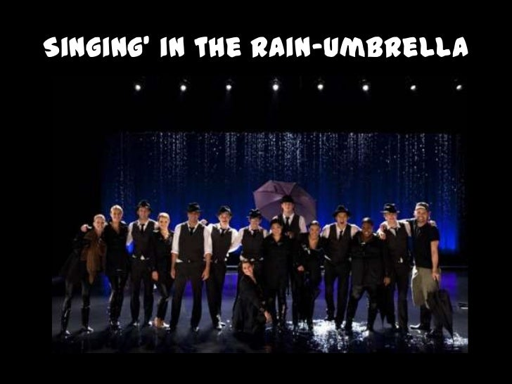 Singing' in the Rain-Umbrella<br />