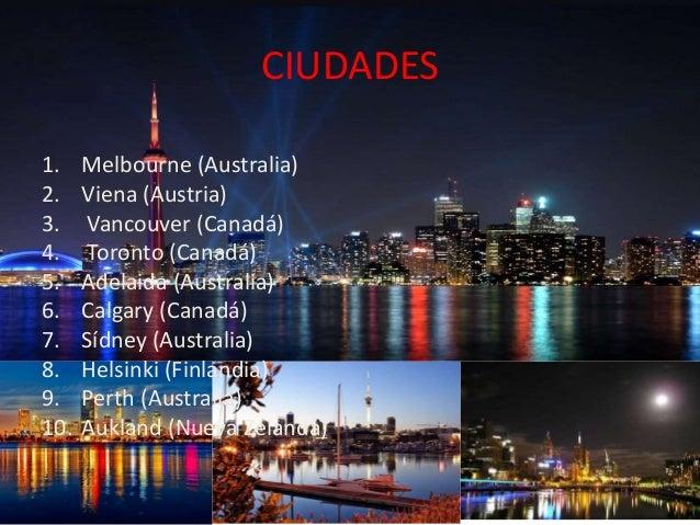 Las mejores ciudades del mundo para vivir top 10 - Mejores ciudades espanolas para vivir ...