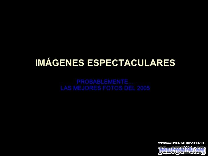 IMÁGENES ESPECTACULARES PROBABLEMENTE… LAS MEJORES FOTOS DEL 2005