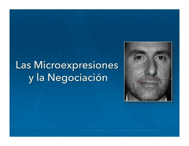 Las Microexpresiones  y Ia Negociación