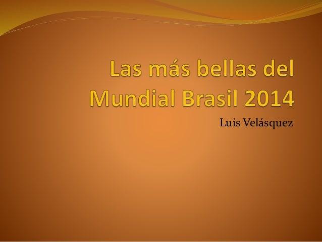 Luis Velásquez