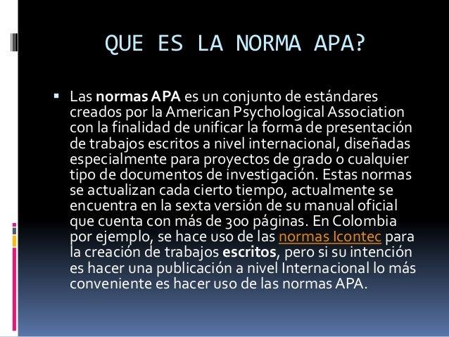 EXPLICACIÓN NORMAS APA Slide 2