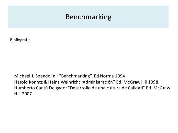 Formar el equipo de Benchmarking: formar equipos de acuerdo a la función o inter-funcionalidad o ad hoc, las personas invo...